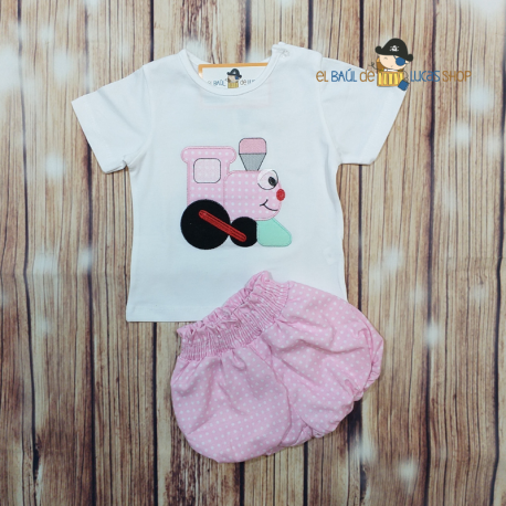 Conjunto friend train rosa